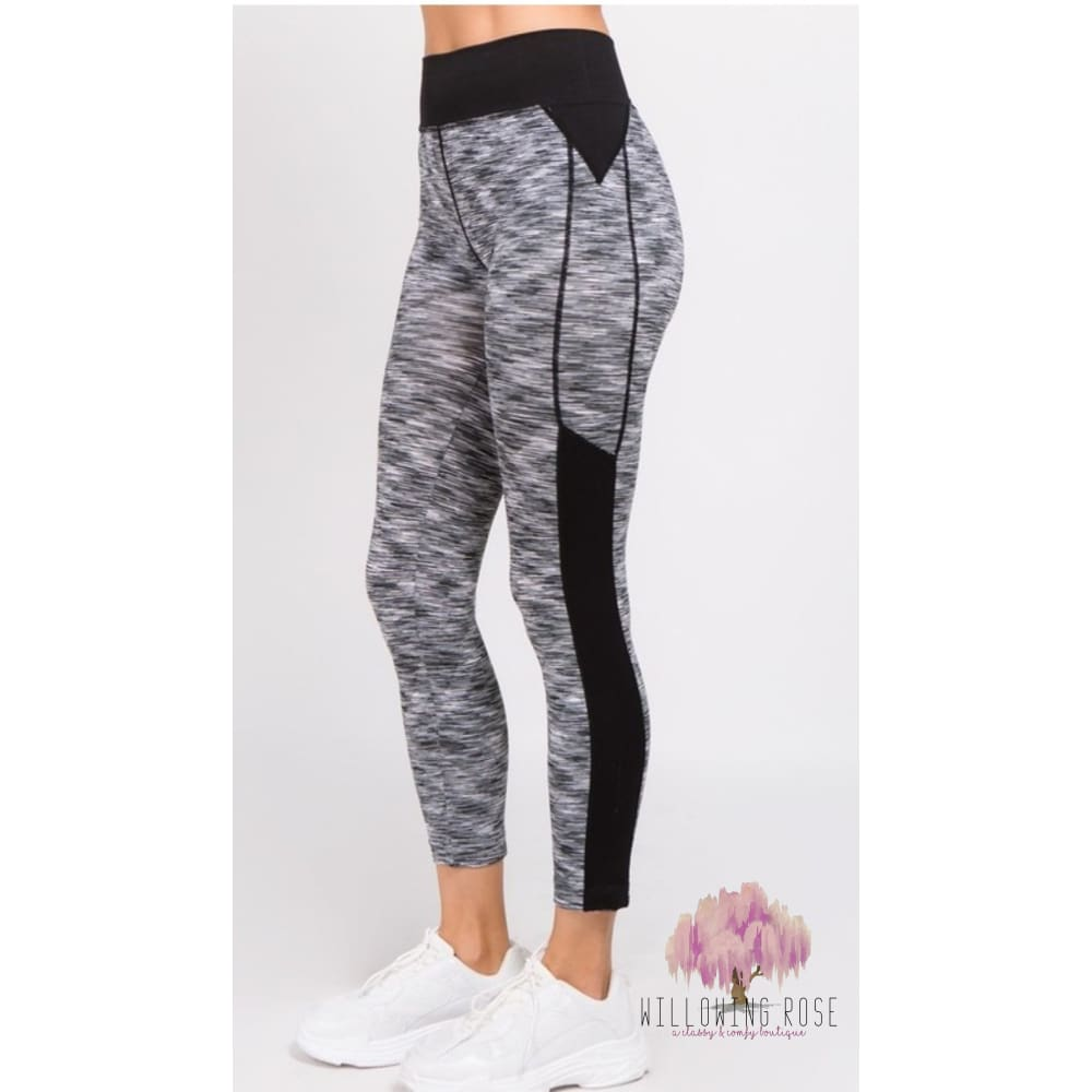 ,sassy-chic-clothing-boutique,Heathered Athletic leggings,Sassy Chic Clothing Boutique