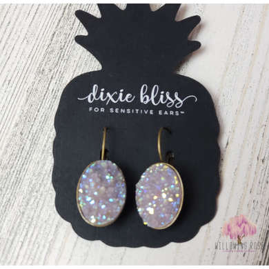 Irredesant Druzy earrings