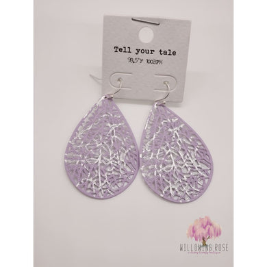 ,sassy-chic-clothing-boutique,Lavender drop earrings,Willowing Rose Boutique! Formerly Sassy Chic Clothing Boutique