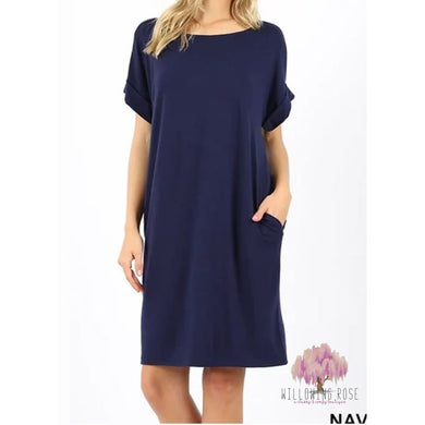 ,sassy-chic-clothing-boutique,Navy tshirt pocket dress,Willowing Rose Boutique! Formerly Sassy Chic Clothing Boutique