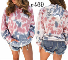 Madison Tye-dye hooded top