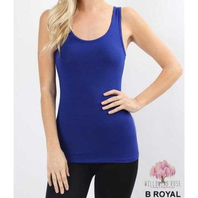 TOPS,sassy-chic-clothing-boutique,ROYAL FITTED TANK,Willowing Rose Boutique! Formerly Sassy Chic Clothing Boutique