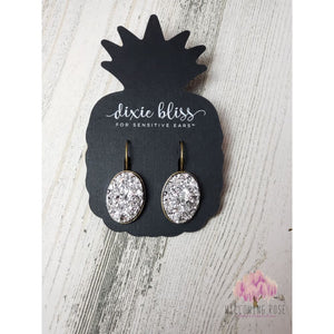 ,sassy-chic-clothing-boutique,Silver Druzy Earrings,Willowing Rose Boutique! Formerly Sassy Chic Clothing Boutique