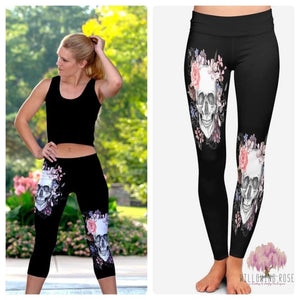 ,sassy-chic-clothing-boutique,Skull capri leggings with Pocket,Willowing Rose Boutique! Formerly Sassy Chic Clothing Boutique