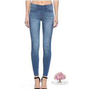 Stretchy skinny roll up jeggings