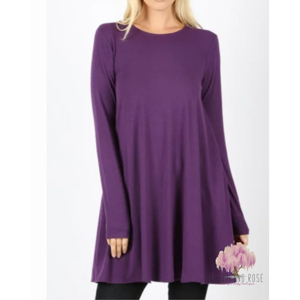 ,sassy-chic-clothing-boutique,Swing tunic top (multiple colors),Sassy Chic Clothing Boutique