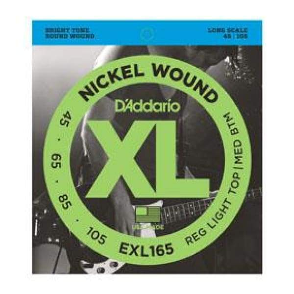 D'ADDARIO STRINGS - ELECTRIC BASS GUITAR STRINGS Default D'ADDARIO EXL165 BASS XL 45-105 LONG