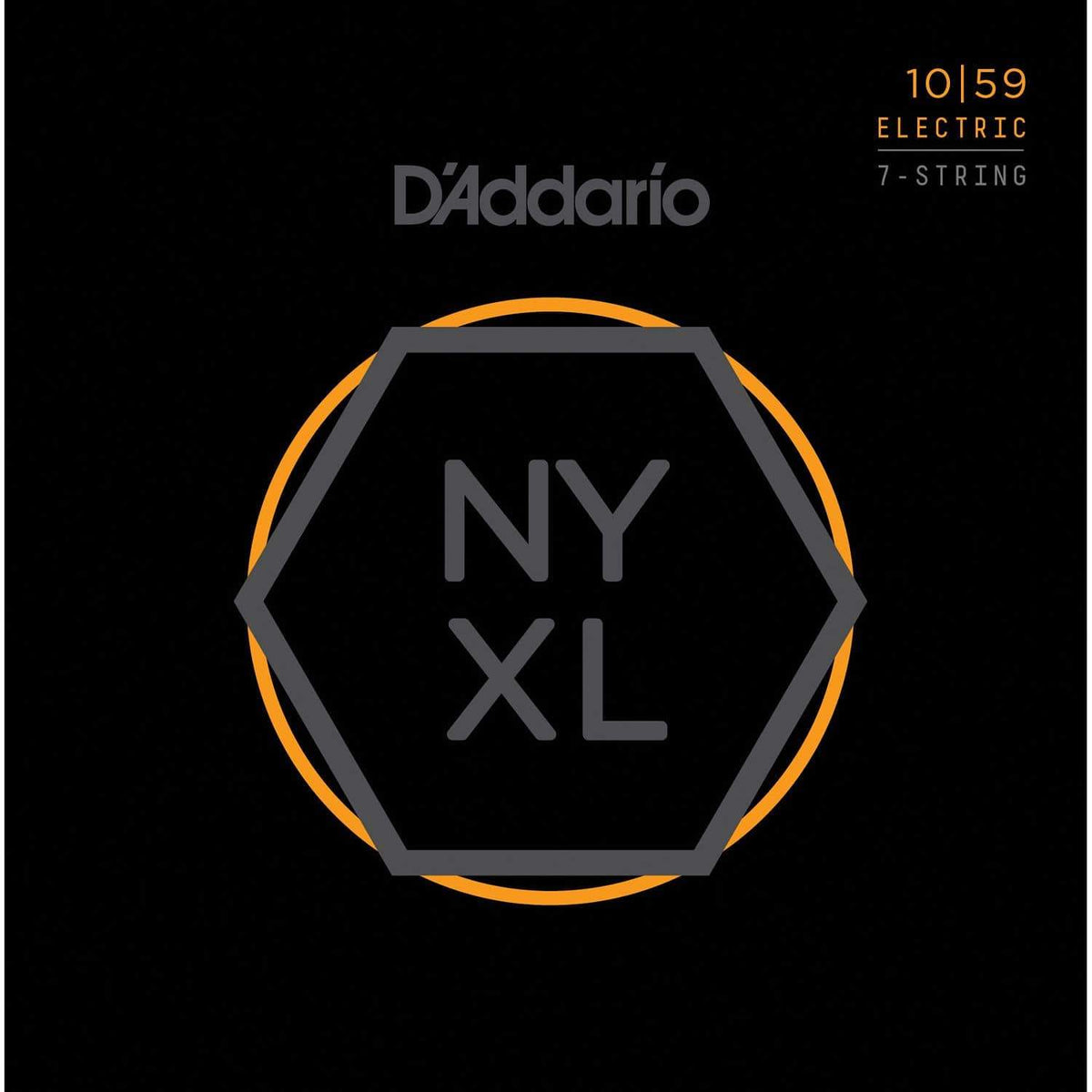 D'ADDARIO STRINGS - ELECTRIC GUITAR STRINGS Default NYXL1059 Nickel Wound 7-String Electric Guitar Strings, Regular Light, 10-59