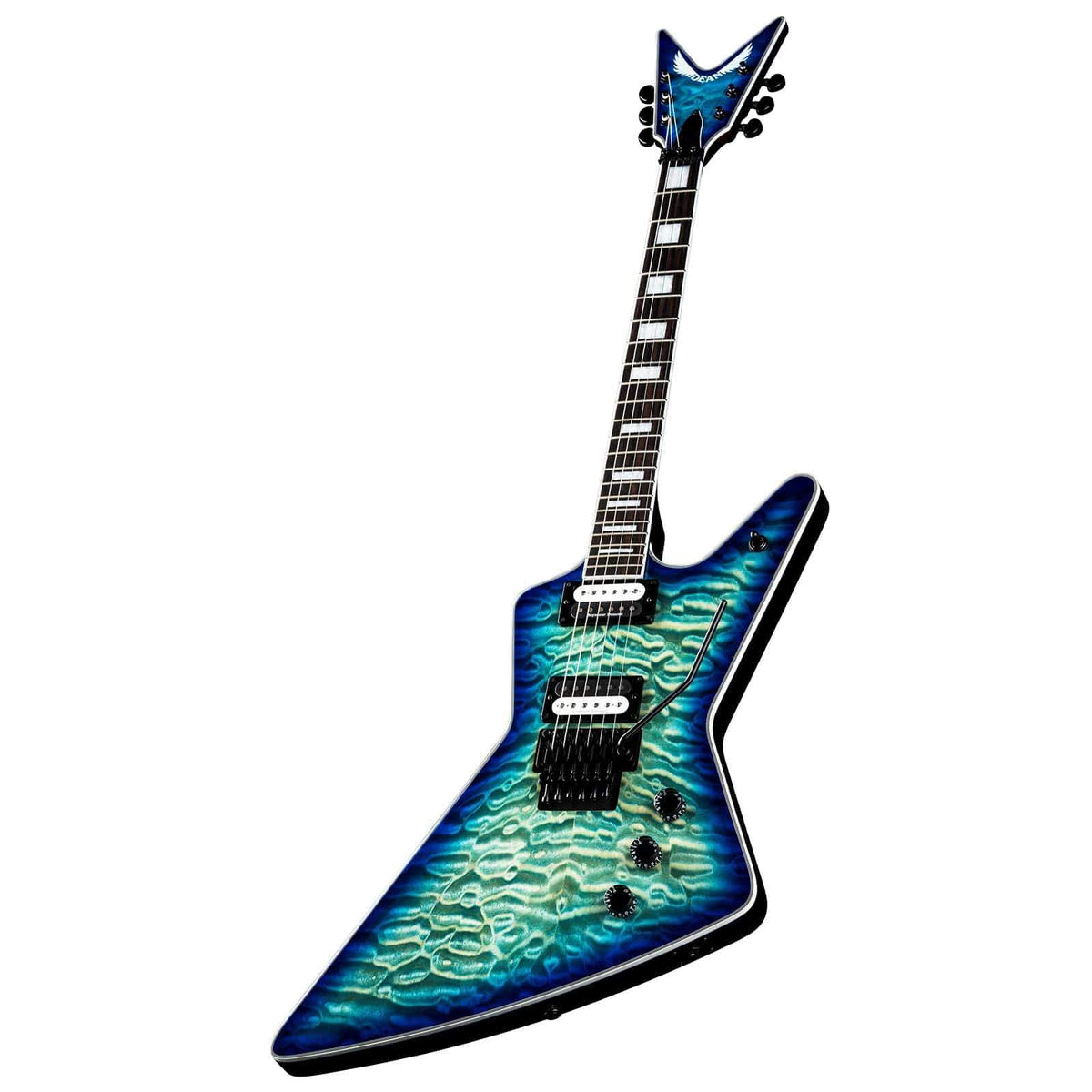 Dean GUITARS - ELECTRIC GUITARS DEAN Z SELECT FLOYD QUILT TOP OCEAN BURST