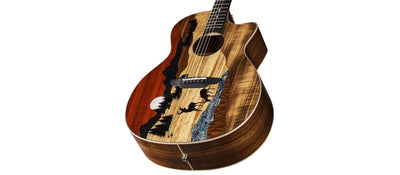 Dean Guitars GUITARS - ELECTRIC GUITARS Default Luna Vista Deer Tropical Wood A/e W/case