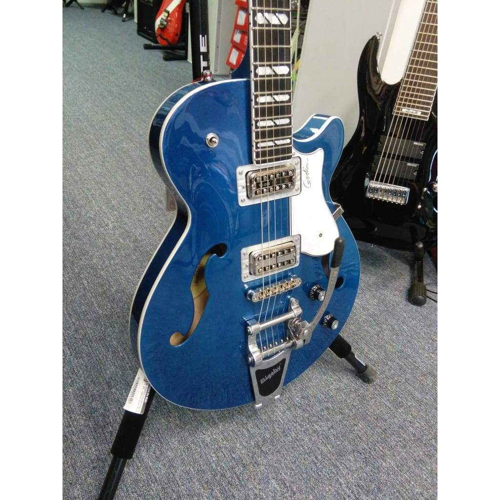 GODIN Guitars Godin Montreal Premiere LTD with TV Jones Pickups and Bigsby 2018 Desert Blue