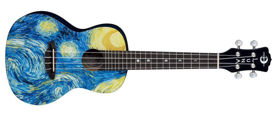 LUNA ACOUSTICFOLK INSTRUMENTS - UKULELE Default Luna Uke Starry Night Concert w/Gigbag