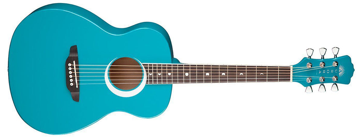 Luna GUITARS - ACOUSTIC GUITARS - KID GUITARS ACOUSTIC Default Luna Aurora Borealis 3/4 Acoustic - Teal Sparkle