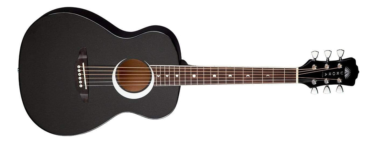 Luna Aurora Borealis 3/4 Acoustic Guitar Black B-Stock
