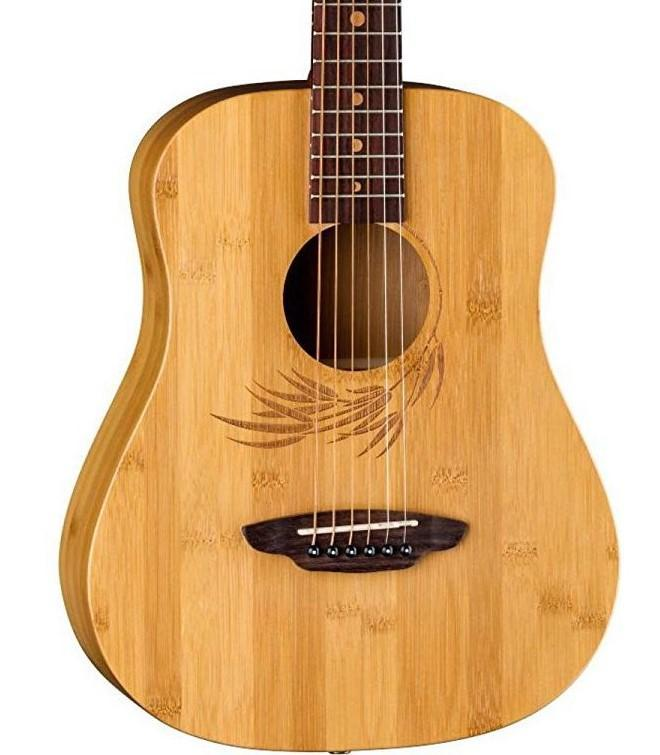 Luna GUITARS - ACOUSTIC GUITARS Luna Safari Bamboo Travel Guitar w/Gig bag