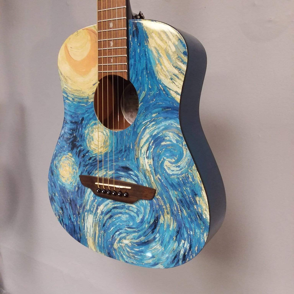 Luna GUITARS - ACOUSTIC GUITARS Luna Safari Starry Night Travel Guitar w/Bag B Stock