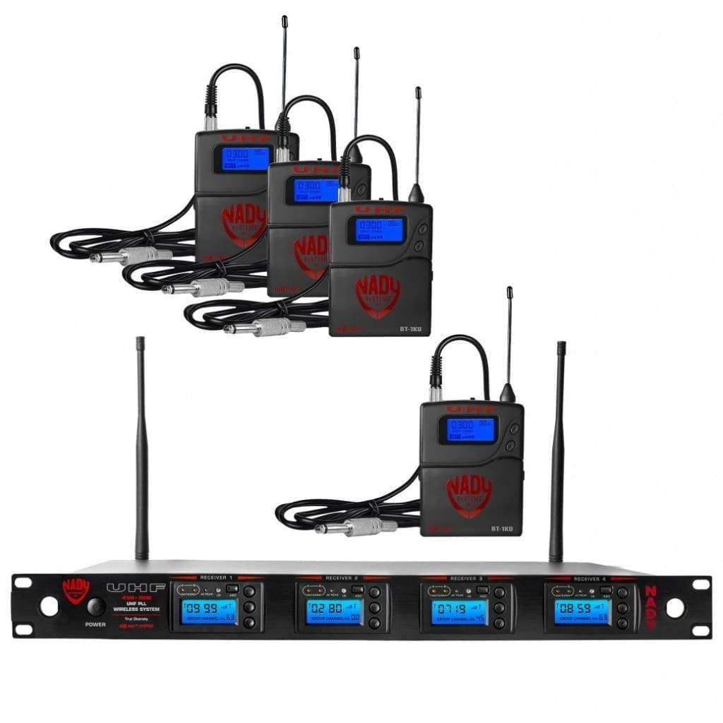 Nady Pro Audio Default Nady 4W-1KU GT Quad True Diversity 1000-Channel Professional UHF Wireless System