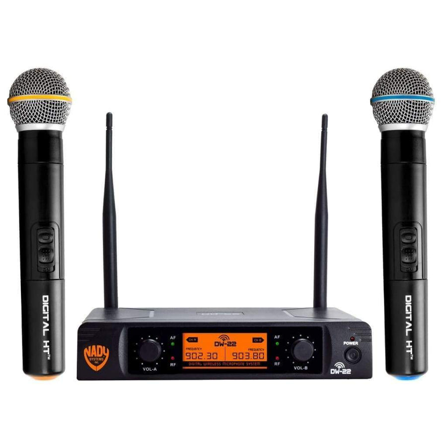 Nady Pro Audio Default Nady DW-22 Dual Digital Wireless Handheld Microphone System