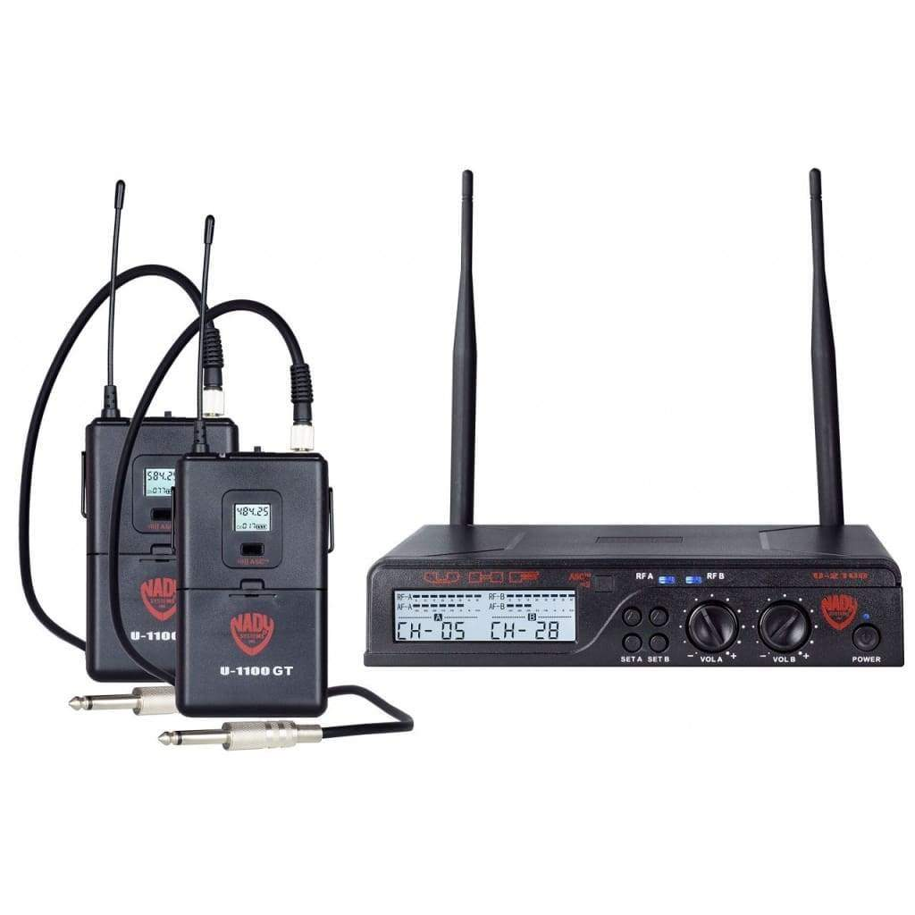 Nady Pro Audio Default Nady U-2100 Dual GT 200-Channel UHF Wireless Instrument/Guitar System