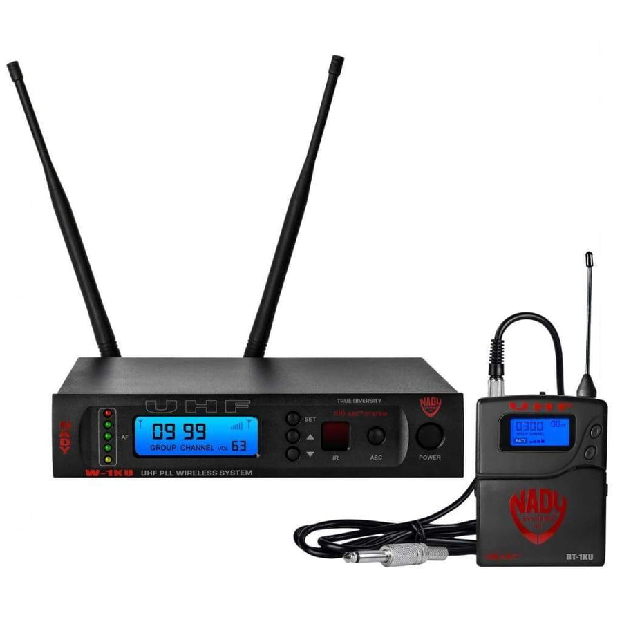 Nady W-1KU GT True Diversity 1000-Channel Professional Guitar/Instrument Microphone Wireless System - Pro Audio