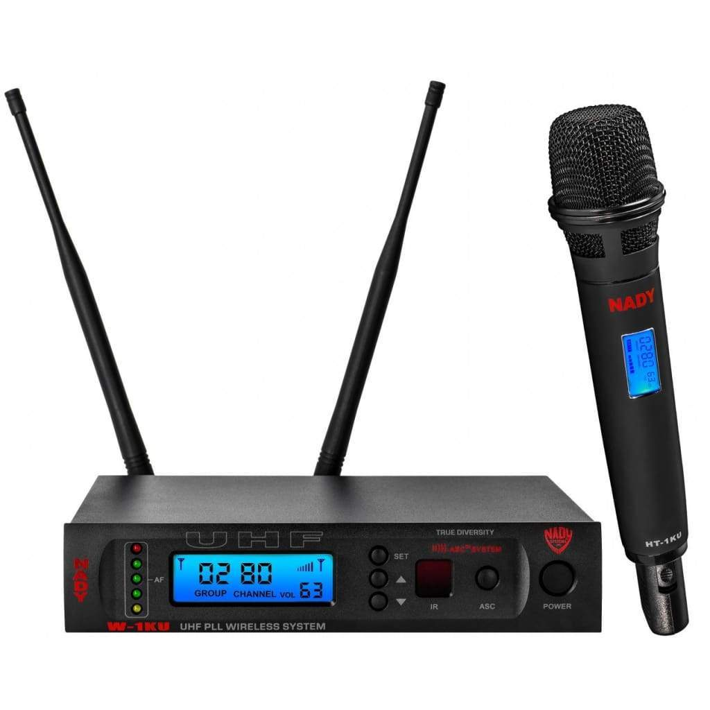 Nady Pro Audio Default Nady W-1KU HT True Diversity 1000-Channel Professional UHF Handheld Microphone Wireless System