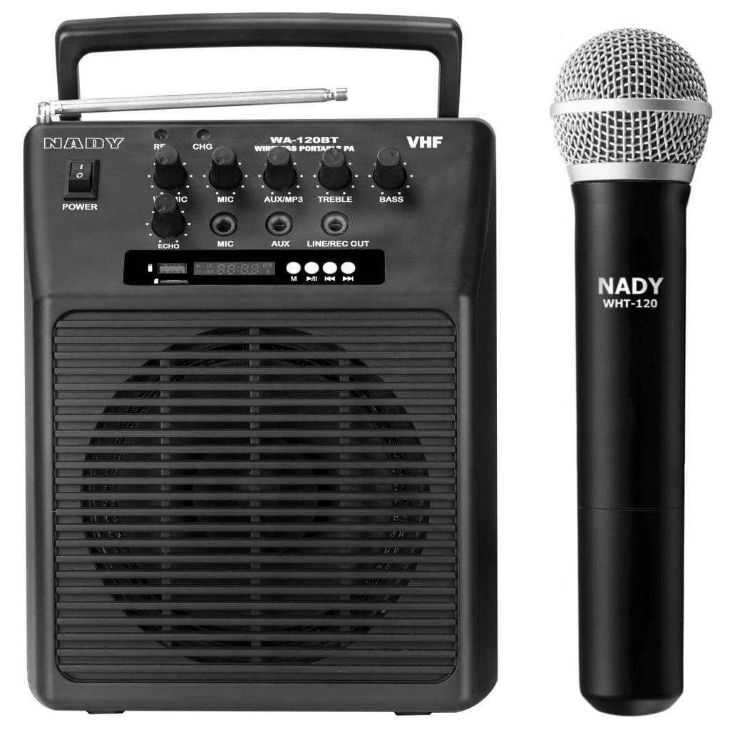Nady Pro Audio Default Nady WA-120BT HT Wireless Portable compact P.A full-range speaker system