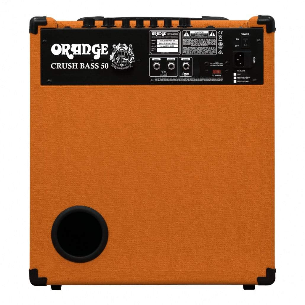 "Orange AMPS - BASS GUITAR AMPS Default Orange Crush Bass 50 - 1x12"" 50W Bass Combo"