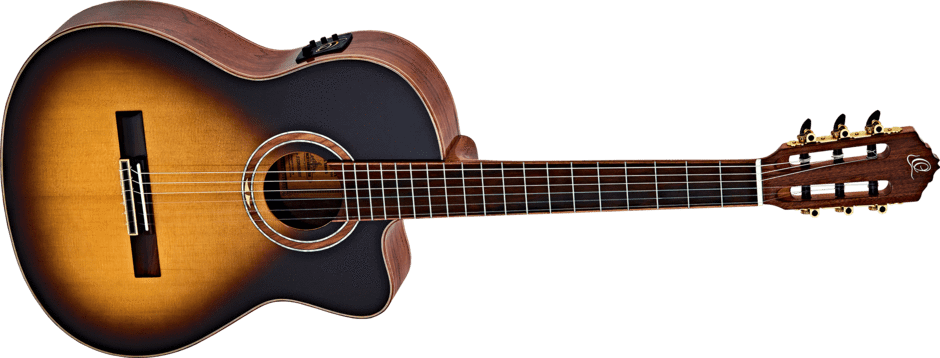 Ortega GUITARS - ACOUSTIC GUITARS - NYLON STRING GUITARS ORTEGA Classical Guitar Performer Series Slim Neck TSP w/gigbag