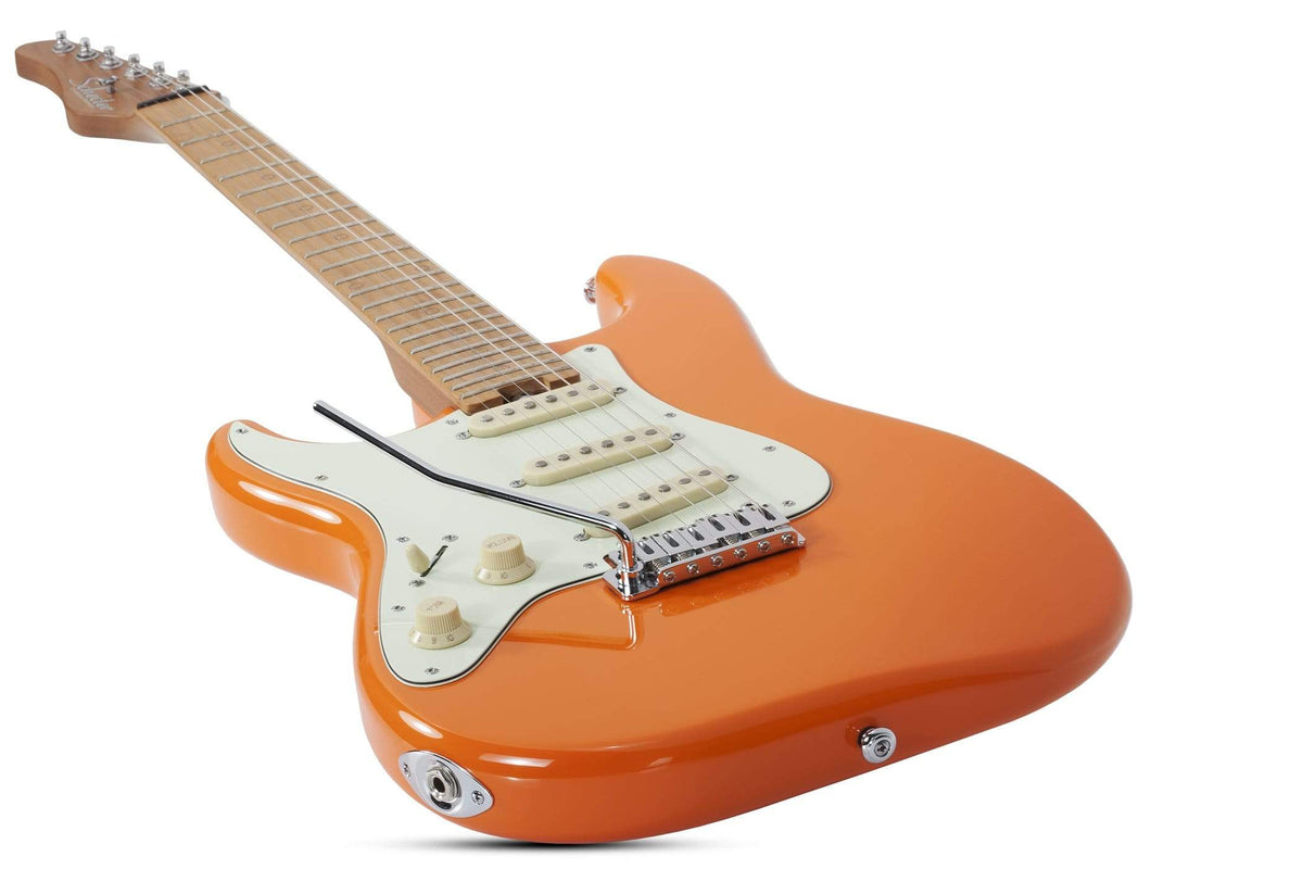 Schecter GUITARS - ELECTRIC GUITARS Nick Johnston Traditional LH Atomic Orange