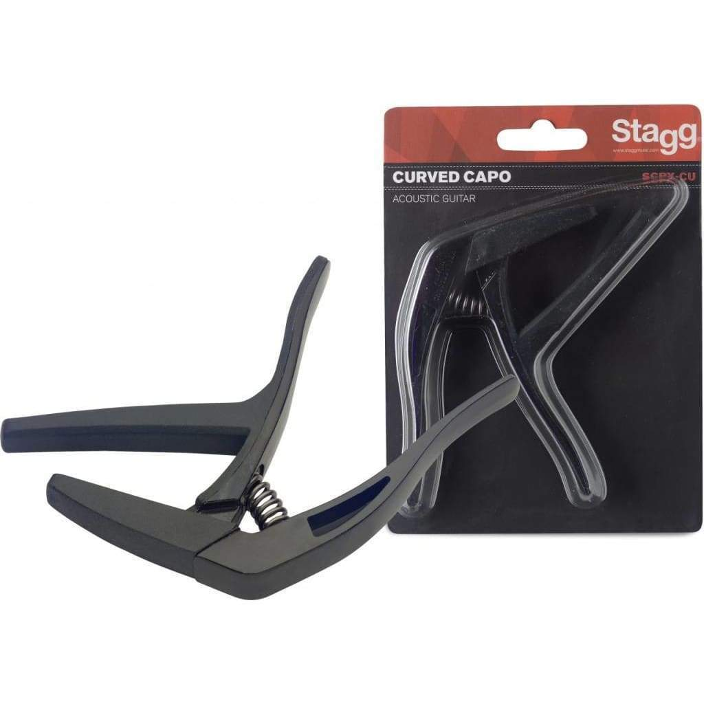 "STAGG ACCESSORIES Stagg Curved ""trigger"" capo for acoustic/electric guitar"