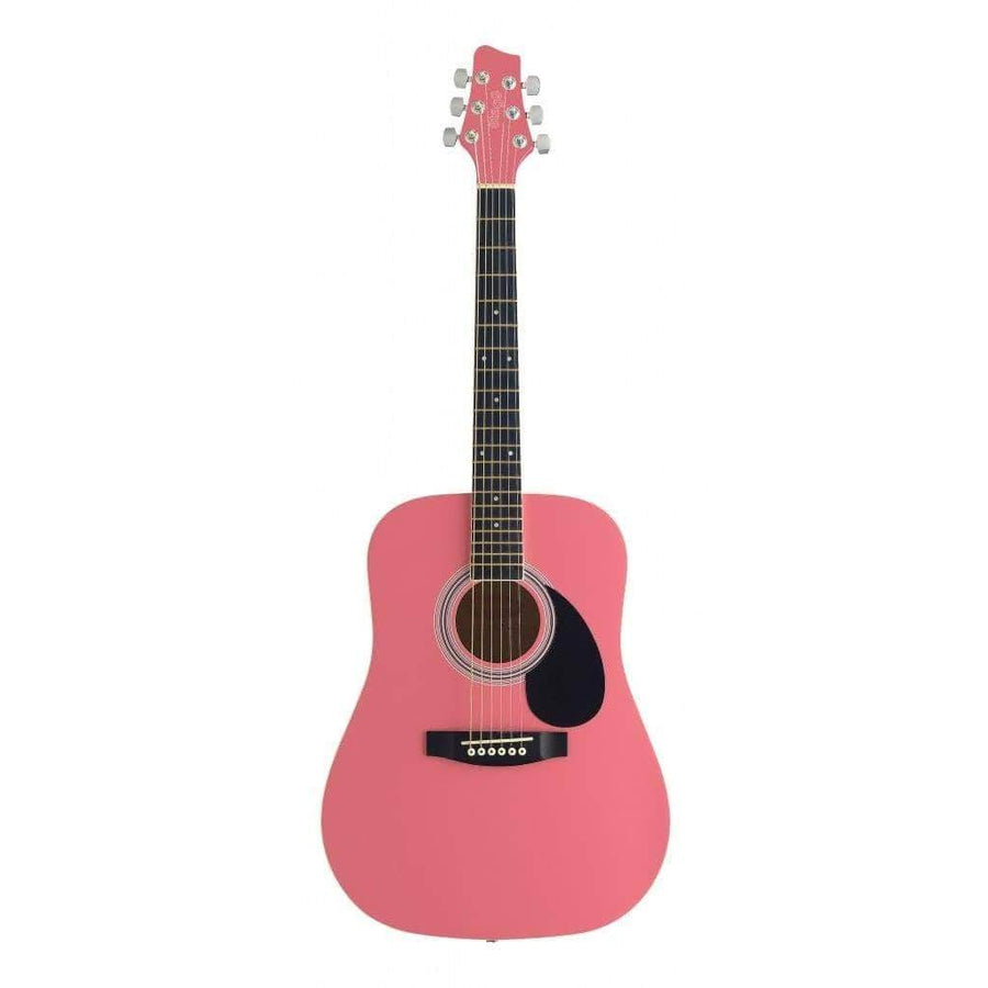 STAGG ACOUSTIC GUITARS - KID GUITARS ACOUSTIC Default Stagg 3/4 Dreadnought Acoustic Guitar Pink Left-handed