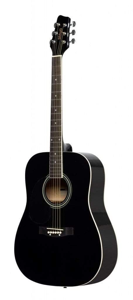 Stagg GUITARS - ACOUSTIC GUITARS Black Stagg SA20D LH Left-Handed Dreadnought Acoustic Guitar