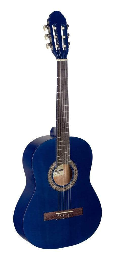Stagg GUITARS - ACOUSTIC GUITARS - KID GUITARS ACOUSTIC Stagg 1/2 Blue Classical guitar with Linden Top