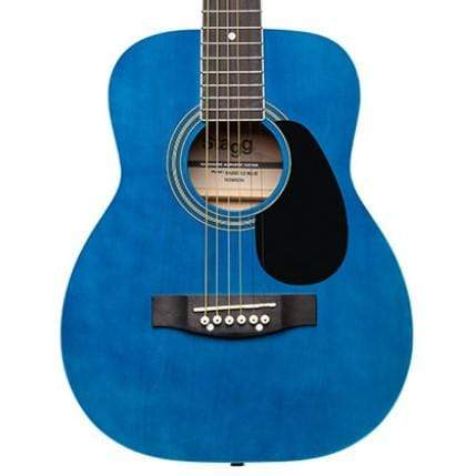Stagg GUITARS - ACOUSTIC GUITARS - KID GUITARS ACOUSTIC Stagg 1/2 Blue Dreadnought acoustic guitar w/ basswood top