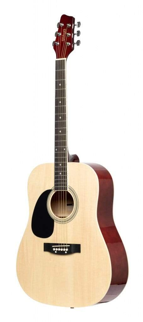 Stagg GUITARS - ACOUSTIC GUITARS Stagg SA20D LH Left-Handed Dreadnought Acoustic Guitar