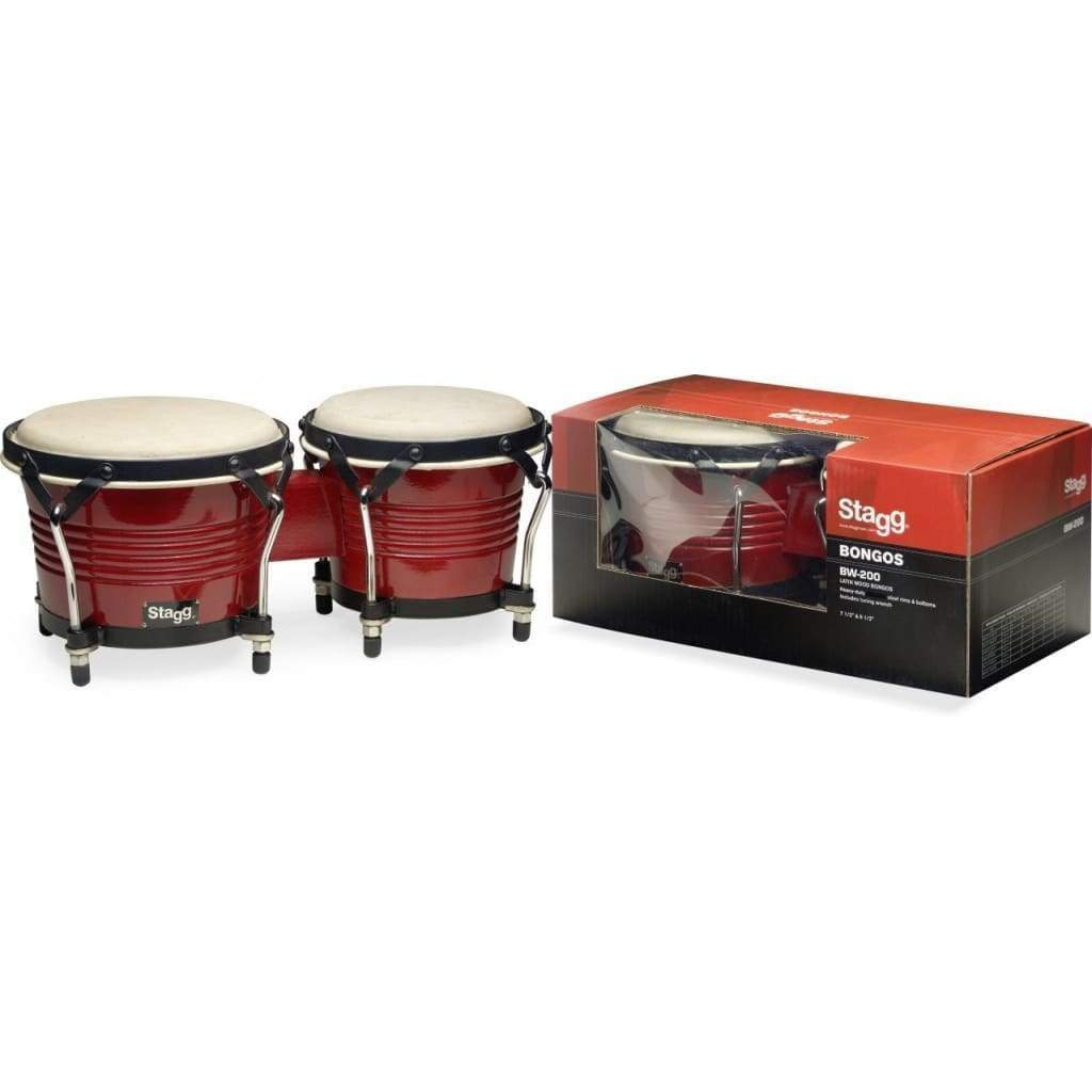 "STAGG Percussion Default Stagg WOOD BONGO,7.5""+6.5"" CHERRY"