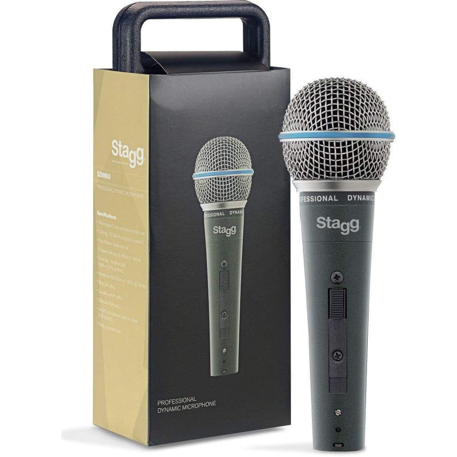 STAGG Pro Audio Default Stagg SDM60 Professional cardioid dynamic microphone with cartridge DC164