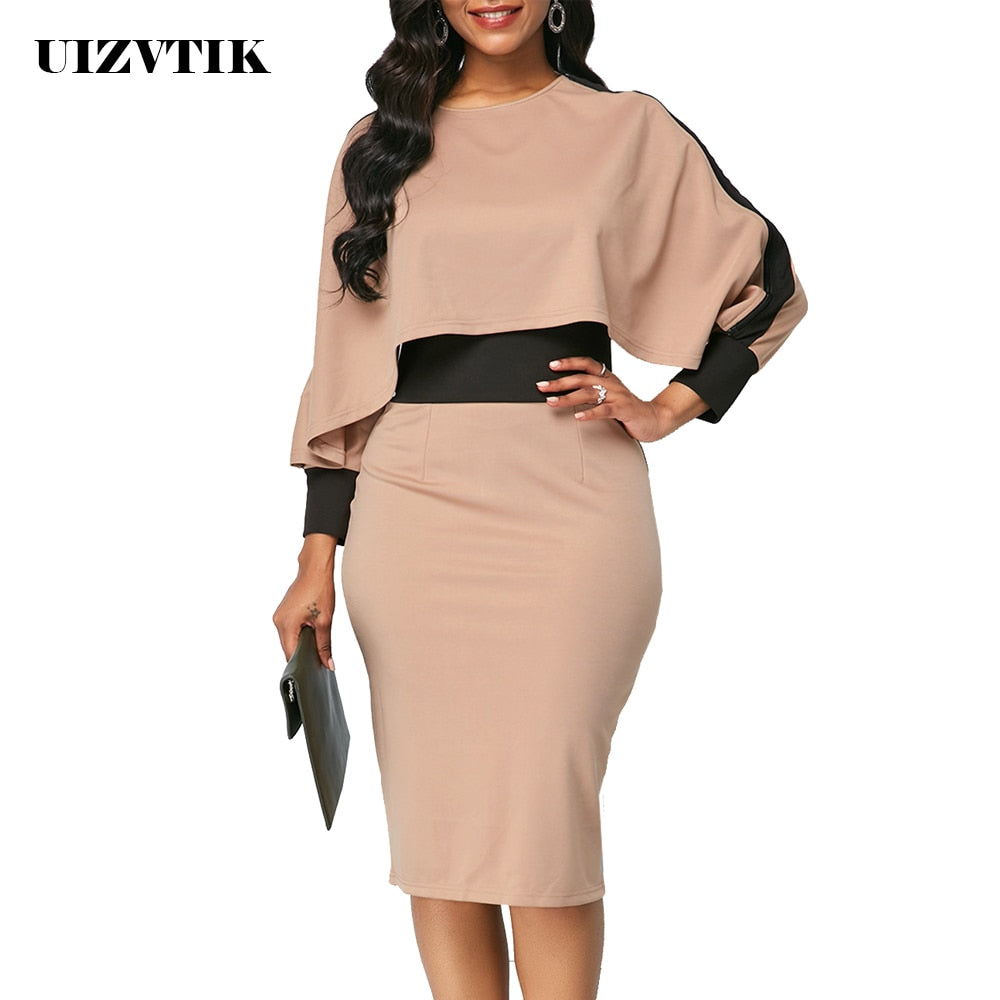 Winter Autumn Dress Women 2019 Casual Plus Size Slim Office Bodycon Dr Mr Dee S Store