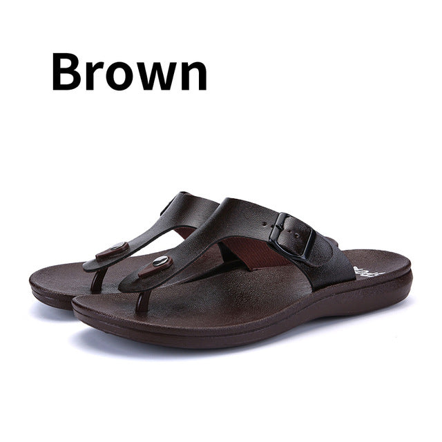 2bc9ec4843a15 ... BIMUDUIYU Brand New Arrival Classic Summer Men Flip Flops Non-slide  Male Slippers Comfortable Breathable