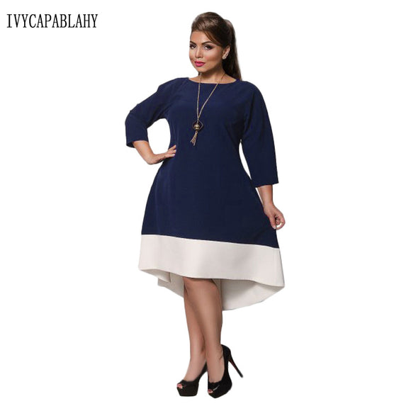 b85c2f079d0 IVYCAPABLAHY 2018 Spring Summer Dress Women O-neck female Dresses 3 Colors Casual  Big Size