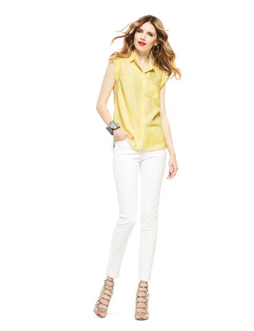 Picadilly-Womens-Fashion Yellow Blouse