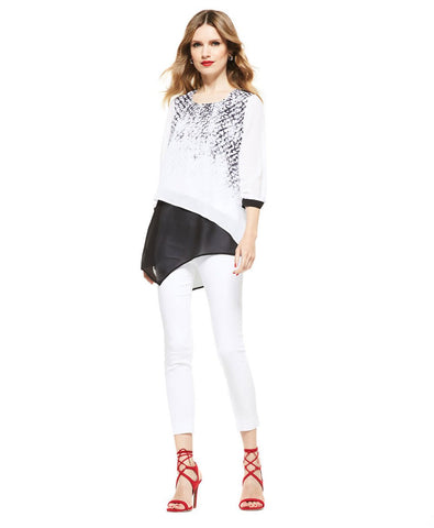 Picadilly Womens Fashion White Top