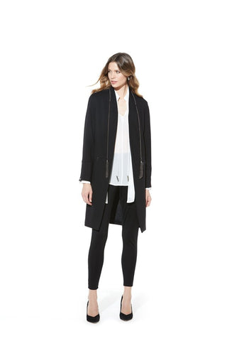 Picadilly Womens Fashion Black Long Jacket