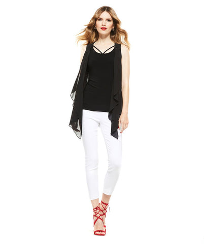 Picadilly Womens Fashion Black Vest