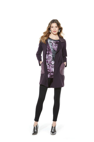 Picadilly Womens Fashion Purple Jacket