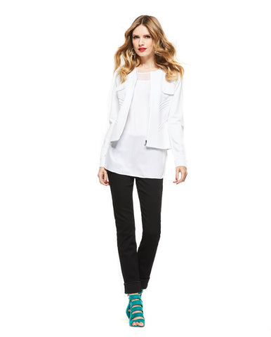 Picadilly Womens Fashion White Jacket