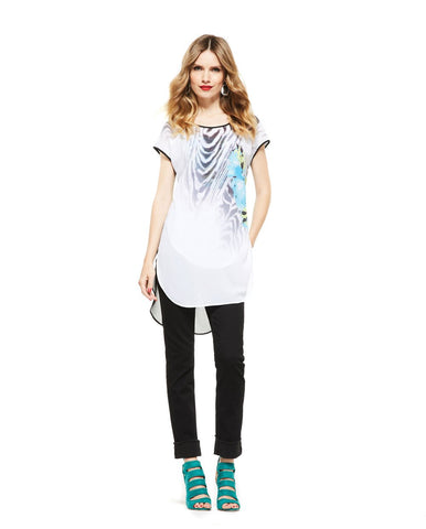 Picadilly Womens Fashion White Tunic