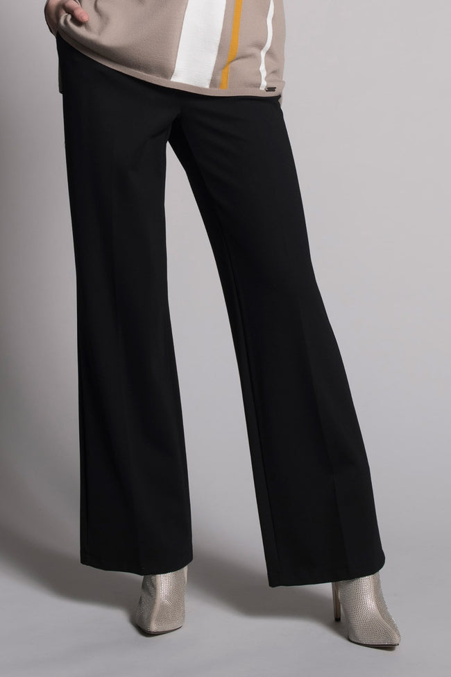 black wide leg pants by picadilly
