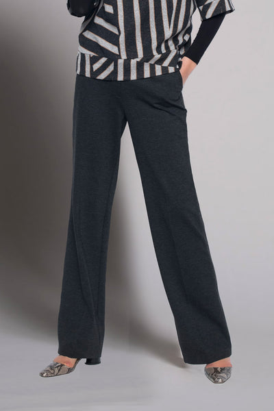 grey heather charcoal wide leg pants by picadilly