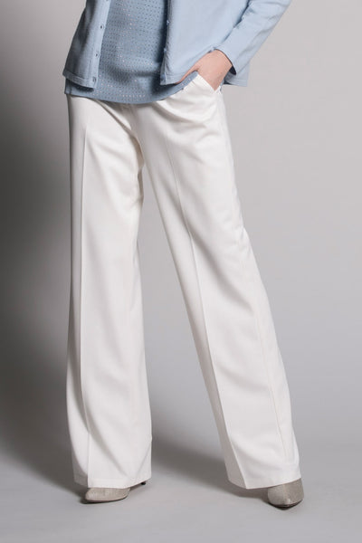 white wide leg pants by picadilly